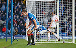 Lee Wallace scores for Rangers and celebrates
