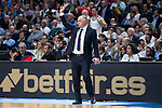 Real Madrid's coach Pablo Laso during Euroleague match at Barclaycard Center in Madrid. April 07, 2016. (ALTERPHOTOS/Borja B.Hojas)