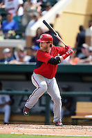Washington Nationals first baseman Mike Carp (33) during a Spring Training game against the Detroit Tigers on March 22, 2015 at Joker Marchant Stadium in Lakeland, Florida.  The game ended in a 7-7 tie.  (Mike Janes/Four Seam Images)