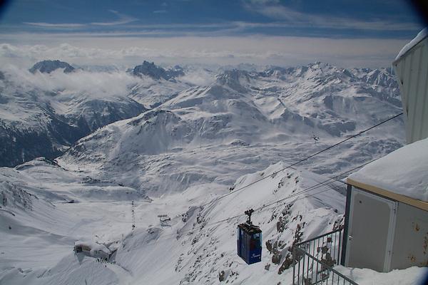 Summit of Valluga Peak, St Anton, Austria, Europe 2014,