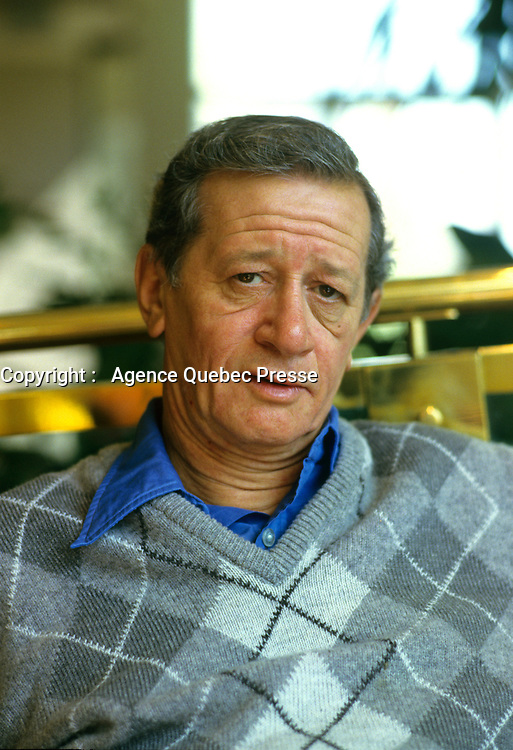 Sept 1987 File Photo -  Exclusive Photo -<br /> <br /> Donald Brittain actor at 1987, World Film Festival