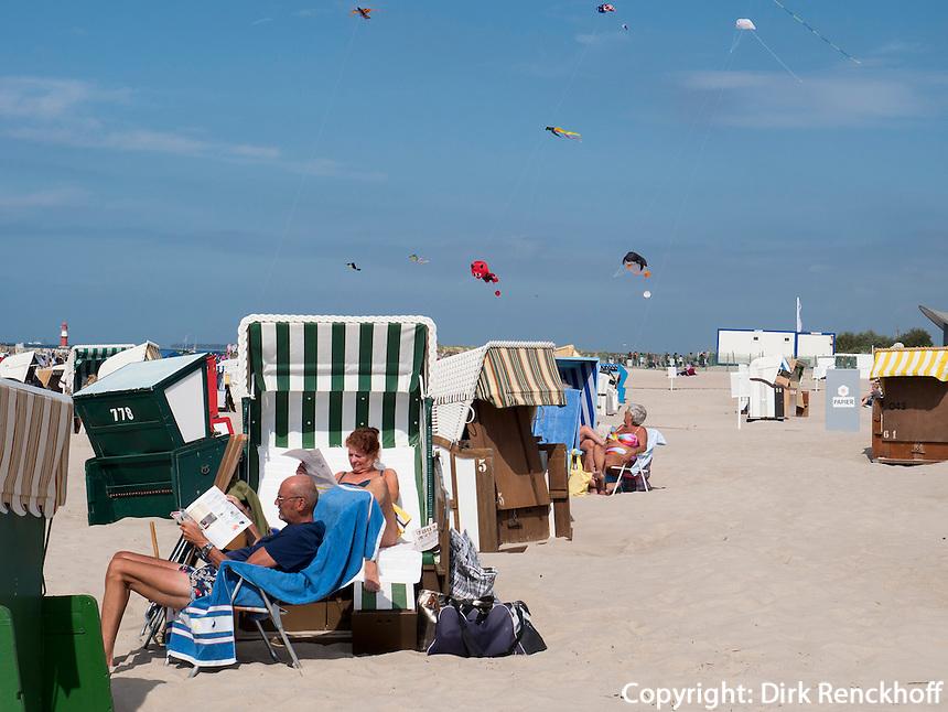 Strand von Rostock-Warnemünde, Mecklenburg-Vorpommern, Deutschland