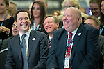 © Joel Goodman - 07973 332324 . 13/06/2016 . Liverpool , UK . Chancellor of the Exchequer , GEORGE OSBORNE and the Mayor of Liverpool JOE ANDERSON at the International Festival for Business at the Liverpool Exhibition Centre . Photo credit : Joel Goodman