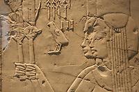 Germania Berlino 2007 Museo egizio Frammento di tomba rappresentante due principesse - Nuovo regno XVIII dinastia