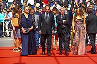 Jacques DOILLON, Vincent LINDON, Izia HIGELIN sur le tapis rouge pour la projection du film RODIN lors du soixante-dixième (70ème) Festival du Film à Cannes, Palais des Festivals et des Congres, Cannes, Sud de la France, mercredi 24 mai 2017. Philippe FARJON / VISUAL Press Agency