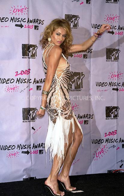 PAULINA RUBIO at 2003 Video Music Awards. New York, August 28, 2003. Please byline: NY Photo Press.   ..*PAY-PER-USE*      ....NY Photo Press:  ..phone (646) 267-6913;   ..e-mail: info@nyphotopress.com