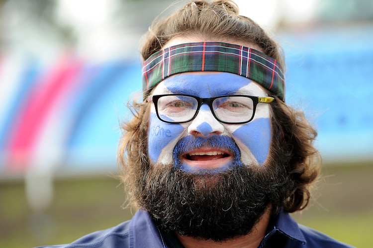 A Scottish fan soaks up the atmosphere before Match 18 of the Rugby World Cup 2015 between Scotland and USA - 27/09/2015 - Elland Road, Leeds<br /> Mandatory Credit: Rob Munro/Stewart Communications