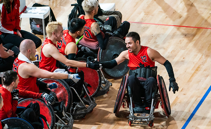 Patrice Dagenais, Lima 2019 - Wheelchair Rugby // Rugby en fauteuil roulant.<br /> Canada takes on Argentina in wheelchair rugby // Le Canada affronte l'Argentine au rugby en fauteuil roulant. 23/08/2019.