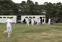 Hutt's Iain McPeake walks off after his innings of 149no during the Pearce Cup Wellington men's cricket match between Johnsonville and Hutt Districts at Alex Moore Park in Johnsonville, New Zealand on Saturday, 6 March 2021. Photo: Dave Lintott / lintottphoto.co.nz