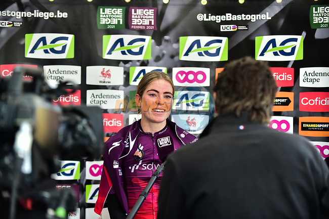 Demi Vollering (NED) Team SD Worx wins Liege-Bastogne-Liege Femmes 2021, running 141km from Bastogne to Liege, Belgium. 25th April 2021.  <br /> Picture: A.S.O./Gautier Demouveaux   Cyclefile<br /> <br /> All photos usage must carry mandatory copyright credit (© Cyclefile   A.S.O./Gautier Demouveaux)
