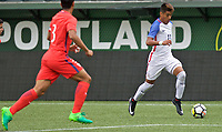 Portland, OR - Saturday August 12, 2017: Bryan Reynolds, Jr. during friendly match between the USMNT U17's and Chile u17's at Providence Park in Portland, OR.