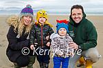 Enjoying a stroll in Banna beach on Monday, l to r: Fiona, Ogie, Teddy and Georgie O'Flaherty.