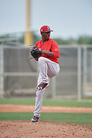 Boston Red Sox pitcher Joan Martinez (61) during a minor league Spring Training game against the Canada Junior National Team on March 31, 2017 at JetBlue Park in Fort Myers, Florida. (Mike Janes/Four Seam Images)