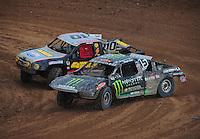 Mar. 20, 2011; Chandler, AZ, USA;  LOORRS pro two driver Marty Hart (15) leads Greg Adler (10) during round two at Firebird International Raceway. Mandatory Credit: Mark J. Rebilas-