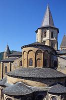 Europe/France/Auvergne/12/Aveyron/Conques: Chevet de l'abbatiale Sainte-Foy (XIème)