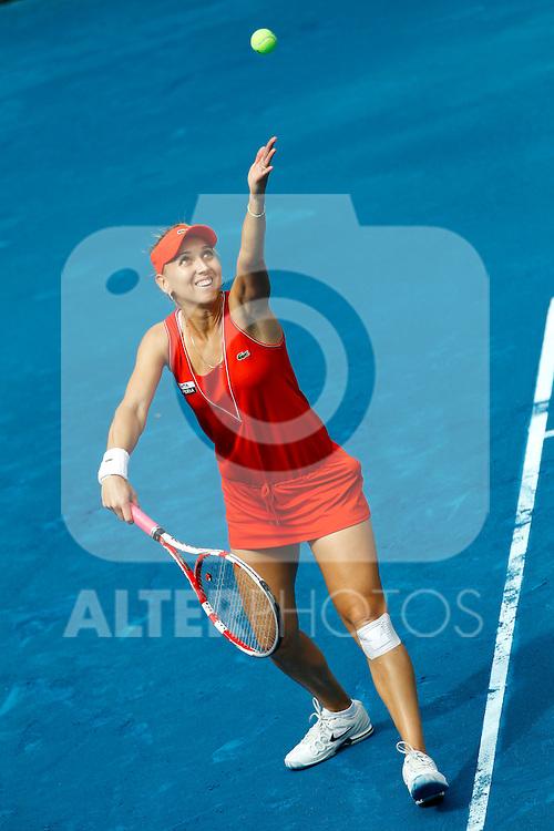 Elena Vesnina (RUS) during Mutua Madrid Open 2012 match on may 7th 2012...Photo: Cesar Cebolla / ALFAQUI