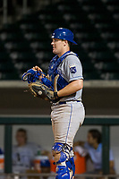 AZL Royals catcher Josh Lovelady (2) on defense against the AZL Cubs on July 19, 2017 at Sloan Park in Mesa, Arizona. AZL Cubs defeated the AZL Royals 5-4. (Zachary Lucy/Four Seam Images)