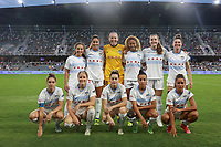 LOUISVILLE, KY - AUGUST 18: Chicago Red Stars Starting 11 before a game between Racing Louisville FC and Chicago Red Stars at Lynn Family Stadium on August 18, 2021 in Louisville, Kentucky.