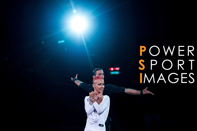 Aniello Langella and Khrystyna Moshenska of Italy during the Day 1 of the WDSF GrandSlam Hong Kong 2014 on May 31, 2014 at the Queen Elizabeth Stadium Arena in Hong Kong, China. Photo by AItor Alcalde / Power Sport Images