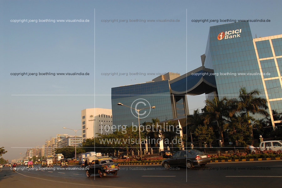 INDIA, Mumbai, business and finance complex Bandra-Kurla, ICICI Bank / INDIEN, Mumbai, Finanz und Business Komplex Bandra-Kurla