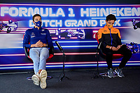 3rd September 2021: Circuit Zandvoort, Zandvoort, Netherlands;   F1 Grand Prix of the Netherlands 63 George Russell GBR, Williams Racing, 4 Lando Norris GBR, McLaren F1 Team, F1 Grand Prix of the Netherlands at Circuit Zandvoort