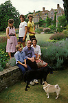 Sir George (1934- 2014) and Lady Mary (1937-2020) Christie and family, the owners of Glyndebourne Opera House, Lewes Sussex England circa 1975.<br />