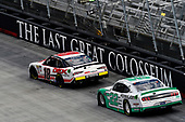 #18: Harrison Burton, Joe Gibbs Racing, Toyota Supra Dex Imaging and #22: Austin Cindric, Team Penske, Ford Mustang MoneyLion