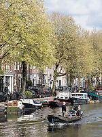 Lijnbaansgracht in Amsterdam, Provinz Nordholland, Niederlande<br /> Lijnbaansgracht in Amsterdam, Province North Holland, Netherlands
