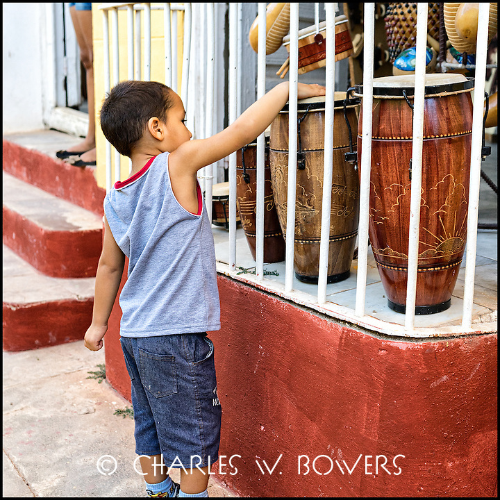 Faces Of Cuba - future drummer. It all starts with a tap.<br /> <br /> - Limited edition of 50 prints.