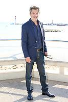 Thierry Godart pose lors du photocall d ENGRENAGES pendant le MIPTV a Cannes, le lundi 3 avril 2017.