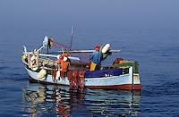 France/Corse/Corse-du-Sud/2A/Ajaccio: Pointu à la pêche dans le golfe d'Ajaccio [Non destiné à un usage publicitaire - Not intended for an advertising use]