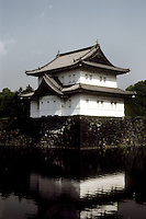 Tokyo: Imperial Palace--moat, wall. Photo '82.