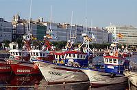 Spanien, Galicien La Coruna (Coruna), Fischerboote im Hafen