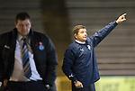 Morton v St Johnstone....30.10.13   Scottish League Cup Quarter Final<br /> Morton manager Allan Moore<br /> Picture by Graeme Hart.<br /> Copyright Perthshire Picture Agency<br /> Tel: 01738 623350  Mobile: 07990 594431
