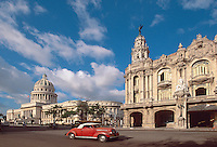 Cuba, Capitolio und Gran Teatro in Habana, Unesco-Weltkulturerbe