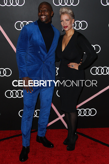 LOS ANGELES, CA - JANUARY 09: Terry Crews, Rebecca Crews at the Audi Golden Globe Awards 2014 Cocktail Party held at Cecconi's Restaurant on January 9, 2014 in Los Angeles, California. (Photo by Xavier Collin/Celebrity Monitor)