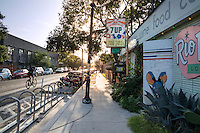 East Austin has been named America's Hippest Hipster Neighborhood with a thriving housing market and thousands waiting to move in - Stock Image