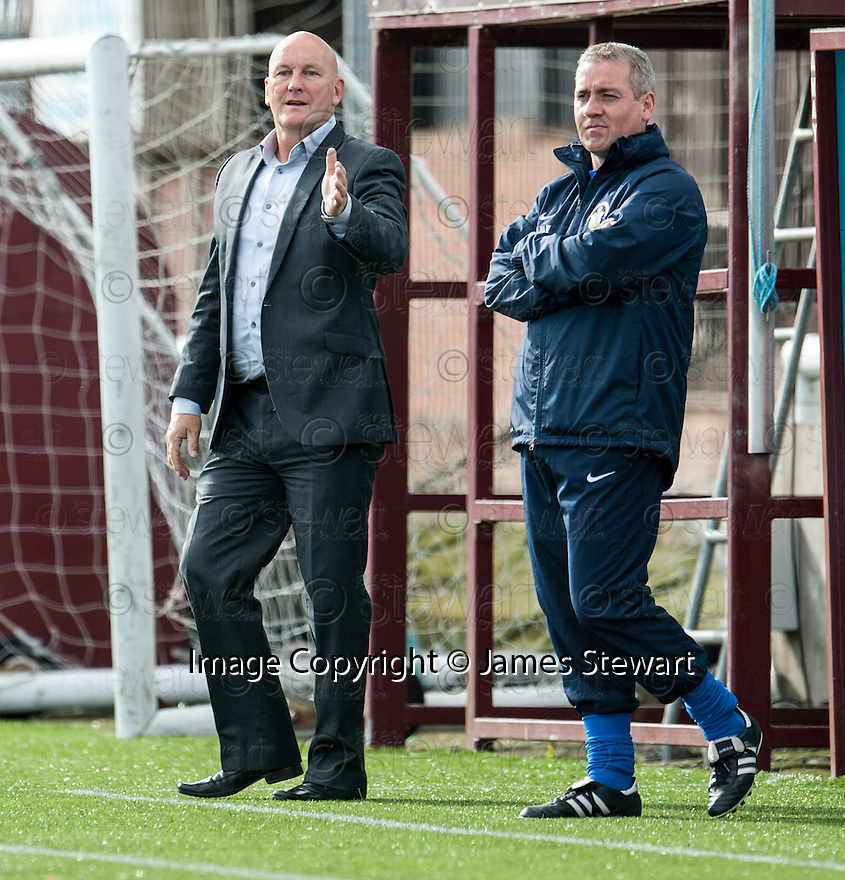 Morton Manager Jim Duffy and Craig McPherson.