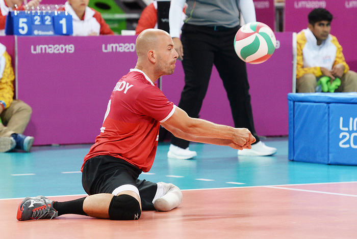 Mikael Bartholdy, Lima 2019 - Sitting Volleyball // Volleyball assis.<br /> Canada competes in men's Sitting Volleyball // Canada participe au volleyball assis masculin. 24/08/2019.
