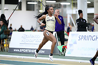 WINSTON-SALEM, NC - FEBRUARY 08: Cydney Delley #2 of Wake Forest University competes in the Women's 400 Meters at JDL Fast Track on February 08, 2020 in Winston-Salem, North Carolina.