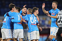 Giovanni Di Lorenzo of SSC Napoli celebrates with team mates after scoring a goal during the Italy Cup football match between SSC Napoli and Empoli FC at stadio Diego Armando Maradona in Napoli (Italy), January 13, 2021. <br /> Photo Cesare Purini / Insidefoto