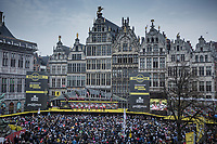 Team Cofidis pre race team presentation on the spectacular start podium in the center square of the race start town of Antwerp<br /> <br /> 103rd Ronde van Vlaanderen 2019<br /> One day race from Antwerp to Oudenaarde (BEL/270km)<br /> <br /> ©kramon