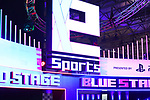 E-Sports logo on display at the Tokyo Game Show (TGS) 2019 in Makuhari, Chiba Prefecture, Japan on September 12, 2019. A total of 655 companies from 40 countries exhibited their latest video games and software programs during the four-day trade show. (Photo by Naoki Nishimura/AFLO)