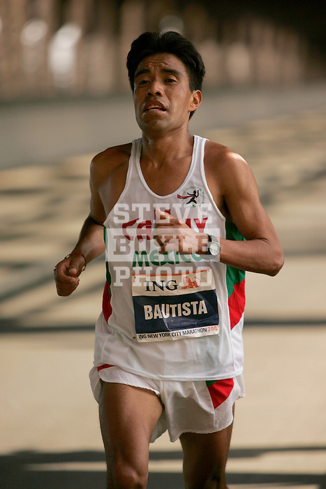 Francisco Bautista (MEX) crosses the Queensboro Bridge from Queens into Manhattan while competing in the ING New York City Marathon in New York, New York on November 4, 2007.  Martin Lel (KEN) won the men's race with a time of 2:09:04  Paula Radcliffe (GBR) won the women's race with a time of 2:23:09.