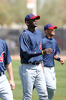 Abner Abreu, Cleveland Indians 2010 minor league spring training..Photo by:  Bill Mitchell/Four Seam Images.