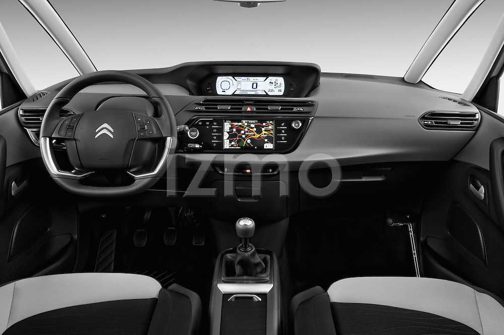 Straight dashboard view of a 2013 Citroen GRAND C4 PICASSO Intensive 5 Door Minivan 2WD