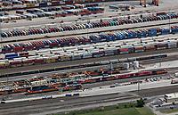 aerial photograph of the BNSF Railway Intermodal Facility, Fort Worth, Texas