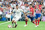 Real Madrid Dani Ceballos and Atletico de Madrid Angel Martin Correa during La Liga match between Real Madrid and Atletico de Madrid at Santiago Bernabeu Stadium in Madrid, Spain. September 29, 2018. (ALTERPHOTOS/Borja B.Hojas)