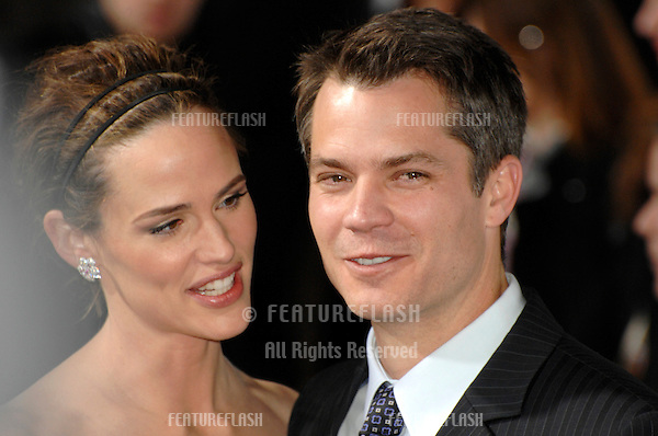 """JENNIFER GARNER & TIMOTHY OLYPHANT at the world premiere of their new movie """"Catch and Release"""" at the Egyptian Theatre, Hollywood..January 22, 2007  Los Angeles, CA.Picture: Paul Smith / Featureflash"""
