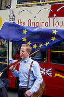 London, 24/06/2016. The United Kingdom decided to leave the European Union. The British people voted (Turnout 72.2%): 51,9% to leave the EU (17,410,742 Votes) versus 48,1% to remain in the EU (16,141,241 Votes).<br />
